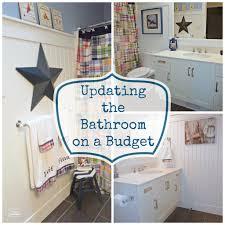 bathroom amazing update bathroom on a budget home decor interior