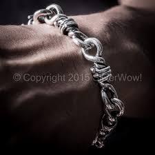 silver bracelet wire images Barb wire bracelet heavy duty jpg