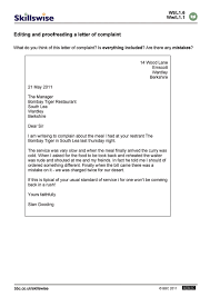 Complaint Business Letters Samples by En15edit L1 W Editing And Proofreading A Complaint Letter 752x1065 Jpg