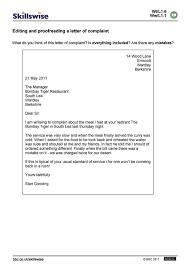 Editing And Proofreading Worksheets En15edit L1 W Editing And Proofreading A Complaint Letter 752x1065 Jpg