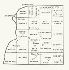 Illinois Map With Cities by Hancock County Illinois Maps And Gazetteers