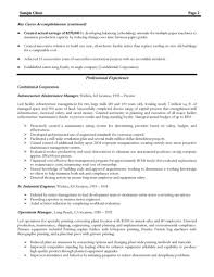 Resume Samples Senior Management by Resume Sample For Production Manager Free Resume Example And