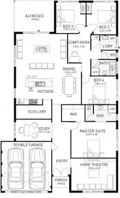 narrow lot one story house plan extraordinary best plans images on