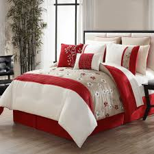 Bedbathandbeyond Bedding Nora 12 Piece Comforter Set In Red Taupe Bed Bath U0026 Beyond
