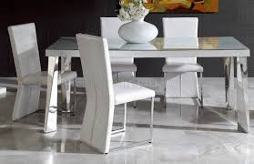 white 7 piece set dining table with 6 chairs