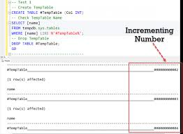 how to create temp table in sql sql server interesting observation count of temporary table re