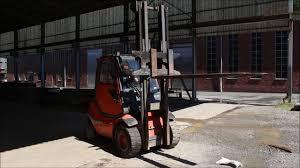 linde linde h 45 d diesel fork lift youtube