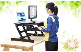 Computer Desk With Adjustable Keyboard Tray E8 Easyup Height Adjustable Sit Stand Desk Riser Foldable Laptop