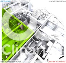 3d Apartment by Clipart Illustration Of Green And White 3d Apartment Floor Plans