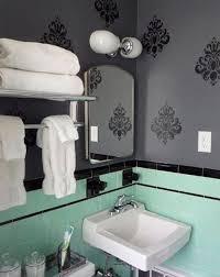 Black Bathroom Floor Tiles Art Deco Green Bathroom Tiles Ideas And Pictures