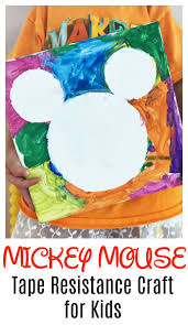 mickey mouse tape resist craft mickey mouse crafts mouse crafts