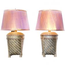 brass basket chapman table lamps with silk shades shades tables
