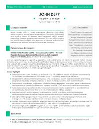 Resume Sample Program Manager by Resume Samples U2013 Expert Resumes