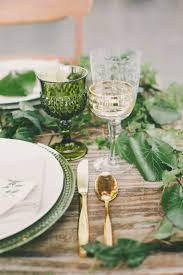Beautiful Table Settings Green And Brown Best 25 Green Table Ideas On Pinterest Green Dinning Room