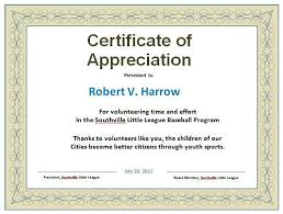 examples of certificates of appreciation wording certificate of