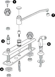Moen Single Lever Kitchen Faucet Repair Moen Single Handle Kitchen Faucet Repair For Kitchen Faucet Parts