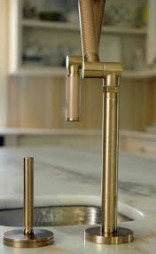 kitchen faucets brass platinum single brushed brass kitchen faucet two handle pull