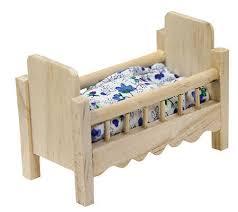 dollhouse miniature wood baby crib nursery miniatures