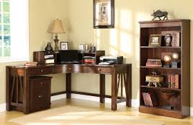 nice cream modern office corner desk can be decor with wooden