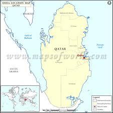 doha qatar map where is doha location of doha in qatar map
