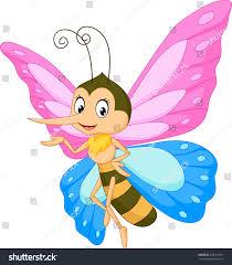 cute butterfly cartoon presenting stock illustration 428431381