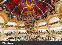 holiday in france lafayette galeries reverse christmas tree