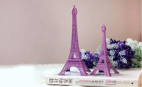 wedding table centerpieces purple paris eiffel tower model alloy
