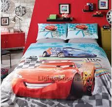 Disney Cars Double Duvet 3pieces Disney Car Story Cool Lightning Mcqueen Bedding For Kids