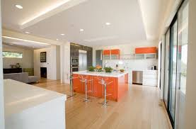 white kitchen cabinets orange walls 37 awesome color schemes for a modern kitchen