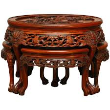 antique table ls ebay coffee table coffeeable asian on ebay with stools underables and