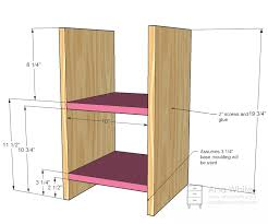 Free Wood Bookshelf Plans by Ana White Play Vanity Diy Projects