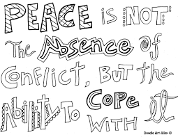 peace coloring pages religious doodles