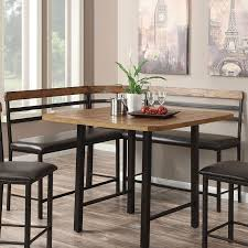 Dining Room Table With Corner Bench Sheldon Counter Height Corner Bench Counter Height Chairs