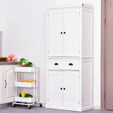 white storage cabinet for kitchen kitchen pantry cabinets wayfair