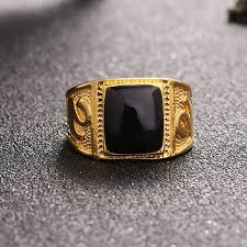 gem stones rings images Mens ring texture engraving modelling simple precious black gem jpg