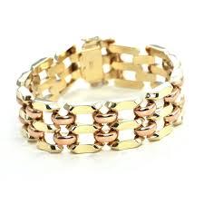 rose gold link bracelet images Vintage 14k yellow and rose gold link bracelet daisy exclusive JPG