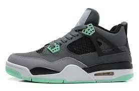 green glow 4 air 4 retro grey green glow cement grey black for sale