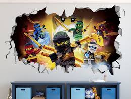 lego batman smashed wall decal 3d kids sticker art decor vinyl