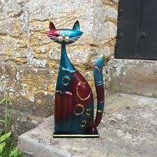 cat metal standard size garden statues lawn ornaments ebay
