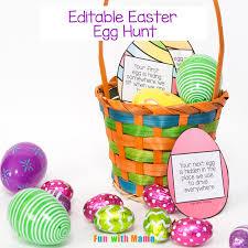 easter egg hunt eggs editable easter egg scavenger hunt with
