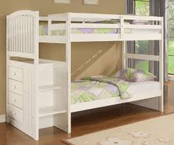 Charming White Bunk Beds With Stairs Invisibleinkradio Home Decor - White bunk bed with mattress