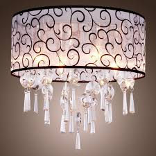 lightinthebox elegant transparent crystal chandelier with 4 lights