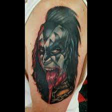 gene simmons from kiss tattoo by jesse neumann tattoonow