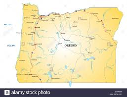 map of oregon state oregon state map stock photos oregon state map stock images alamy