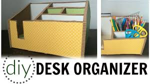 Desk Organizer Diy by Diy Desk Organizer Youtube