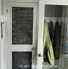 chalkboard in kitchen ideas chalkboard door from builder grade to a it all started with paint