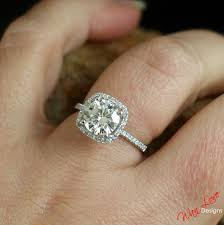 2 carat halo engagement ring forever one moissanite halo engagement ring cushion