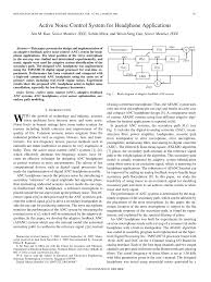 active noise control system for headphone applications pdf