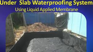 waterproofing membrane for under concrete slab melbourne youtube