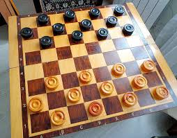 big soviet chess checkers table game set giant street chess